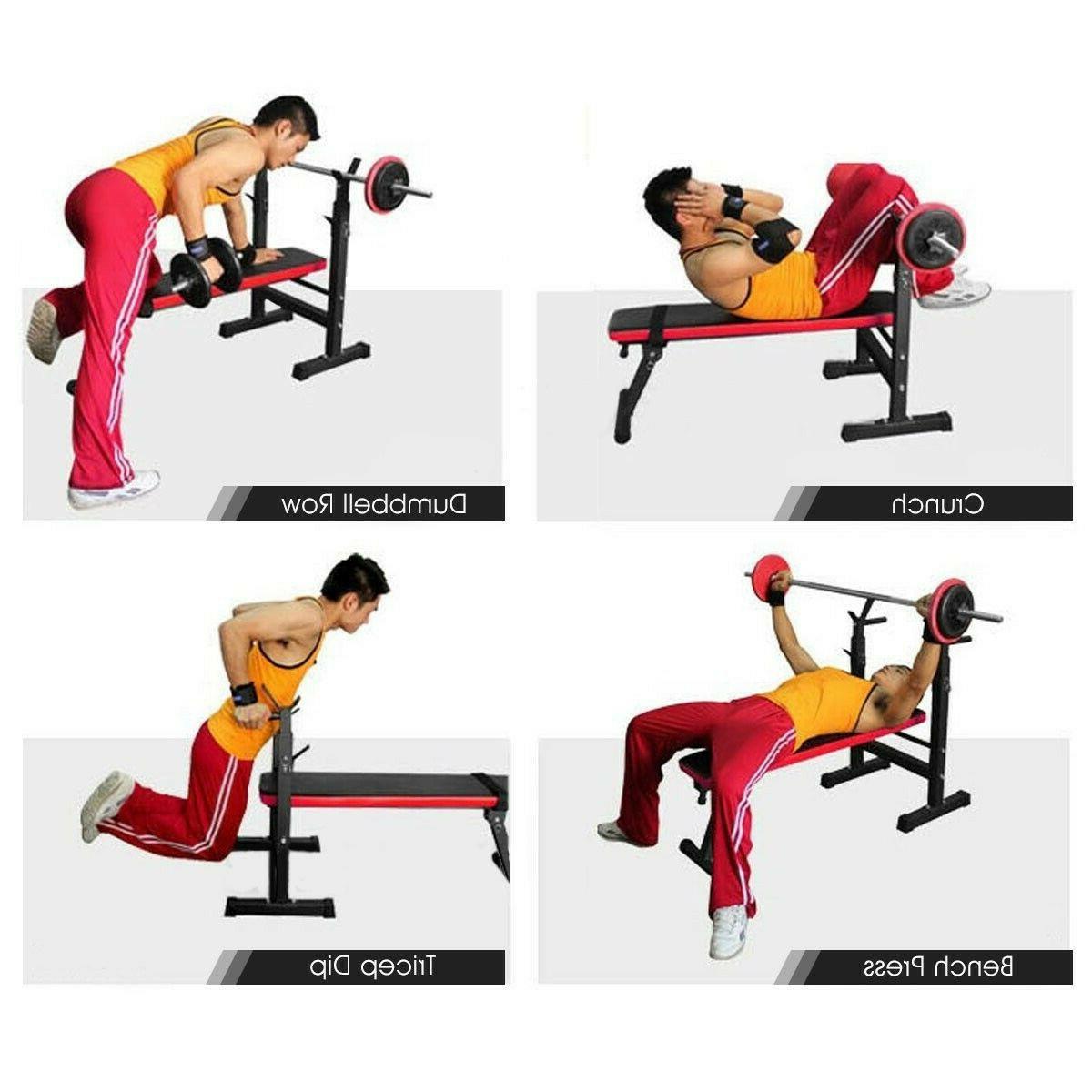Adjustable Folding Flat Workout Training