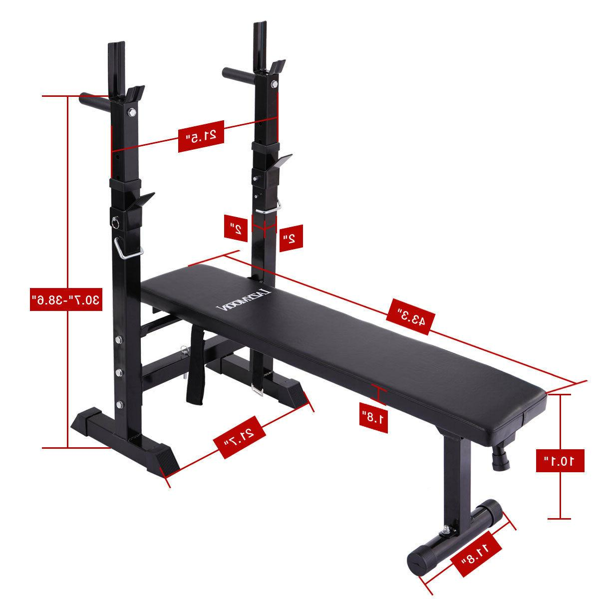 Adjustable Folding Weight Lifting Flat Workout