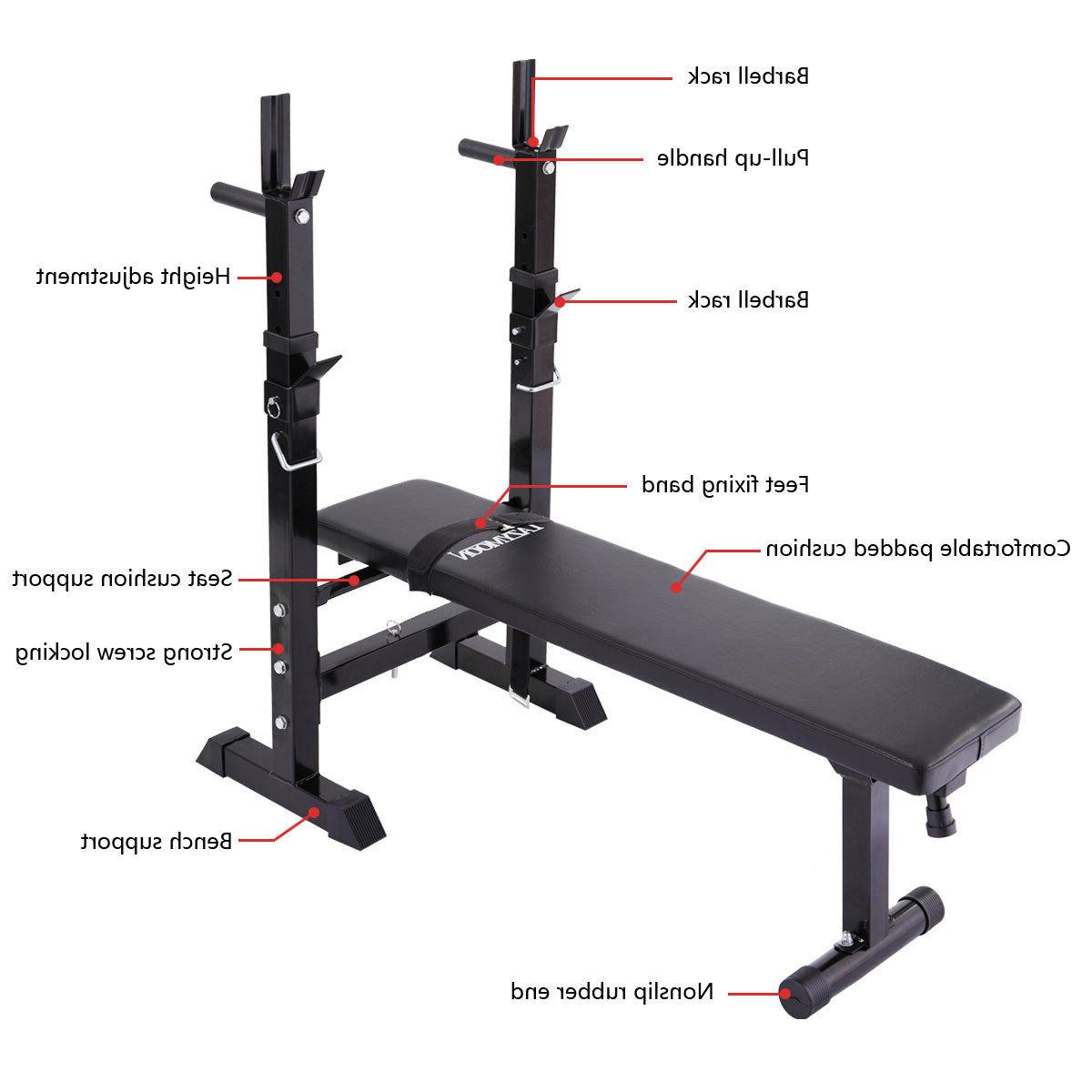 Adjustable Flat Incline Fitness Workout New