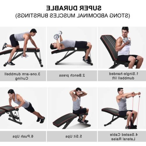 Adjustable AB Incline Abs Bench Fly W/ Fitness
