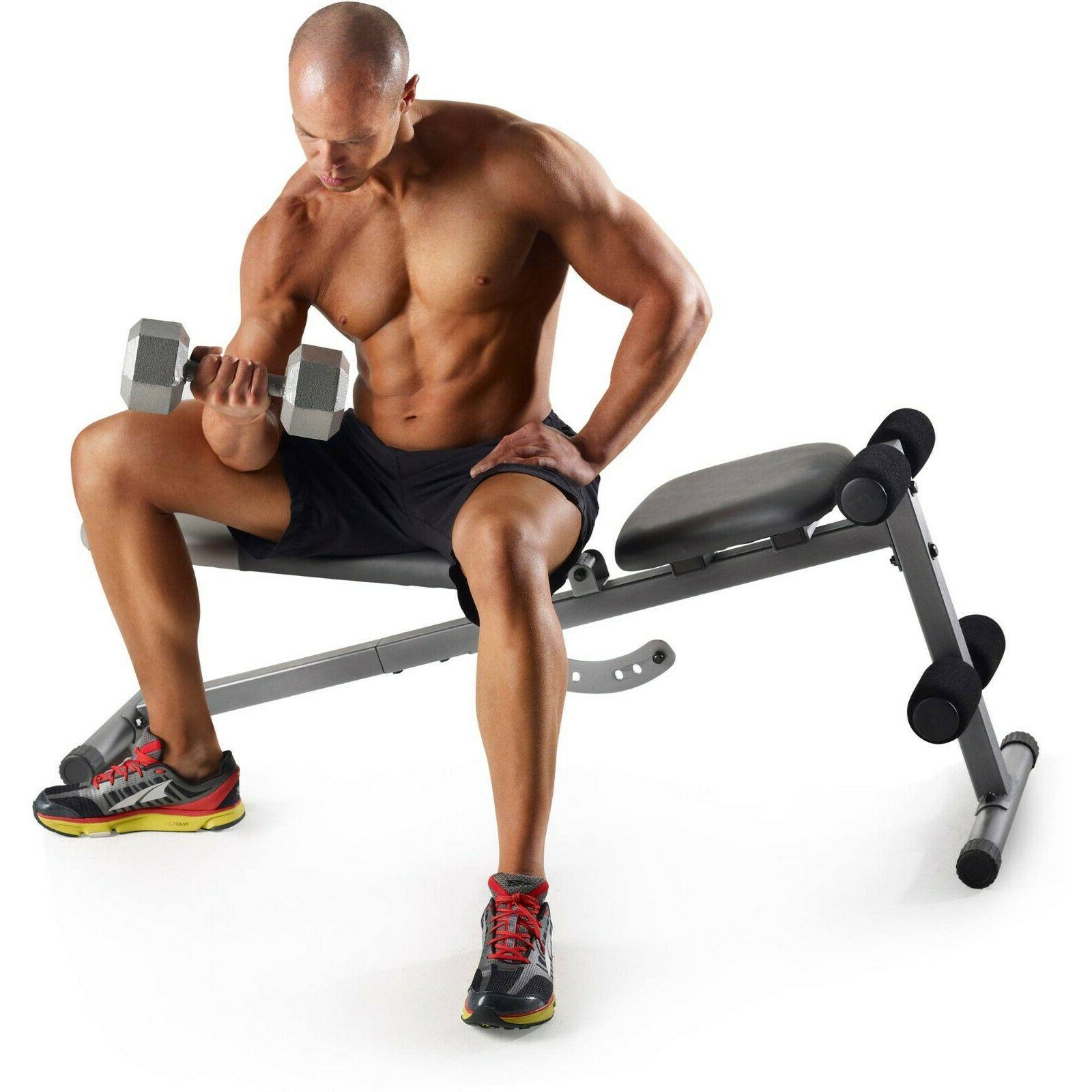 ADJUSTABLE WEIGHT BENCH Flat Workout