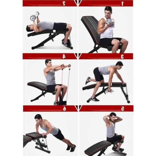 Adjustable Incline Decline Foldable Full Body Workout Training Gym
