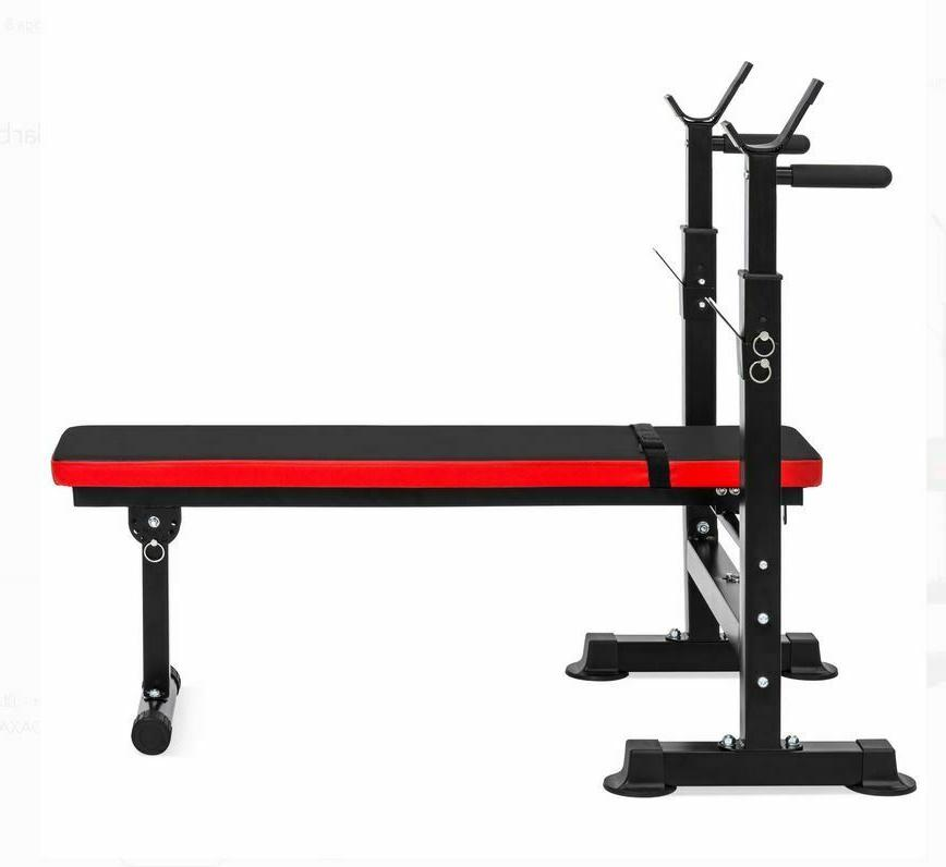 ADJUSTABLE WEIGHT Barbell Rack Exercise Strength Training Workout