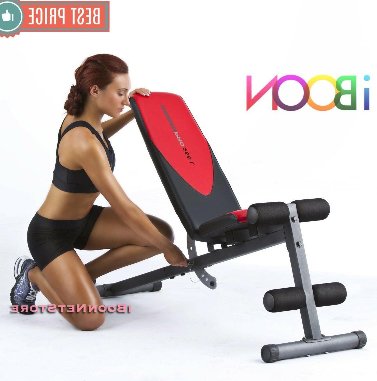 ADJUSTABLE WEIGHT Workout Press Flat Abs