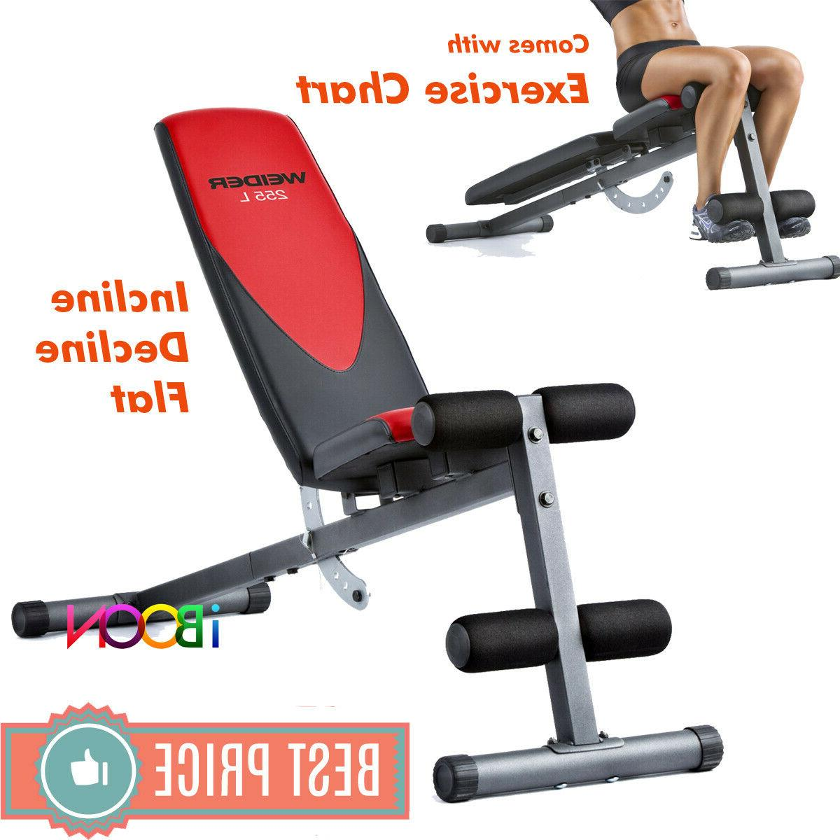 adjustable weight workout bench press flat incline