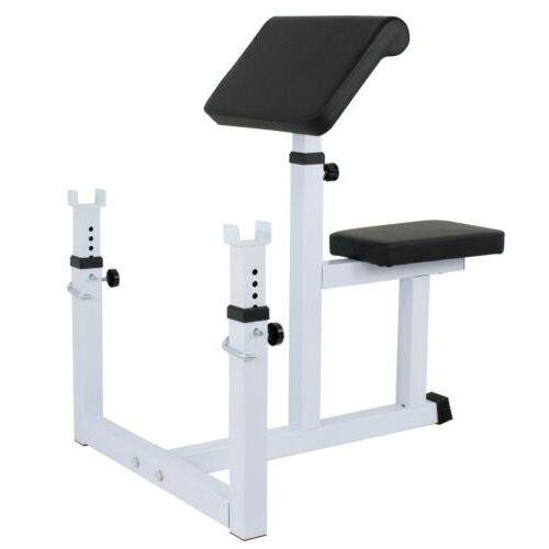 arm curl weight bench adjustable commercial preacher