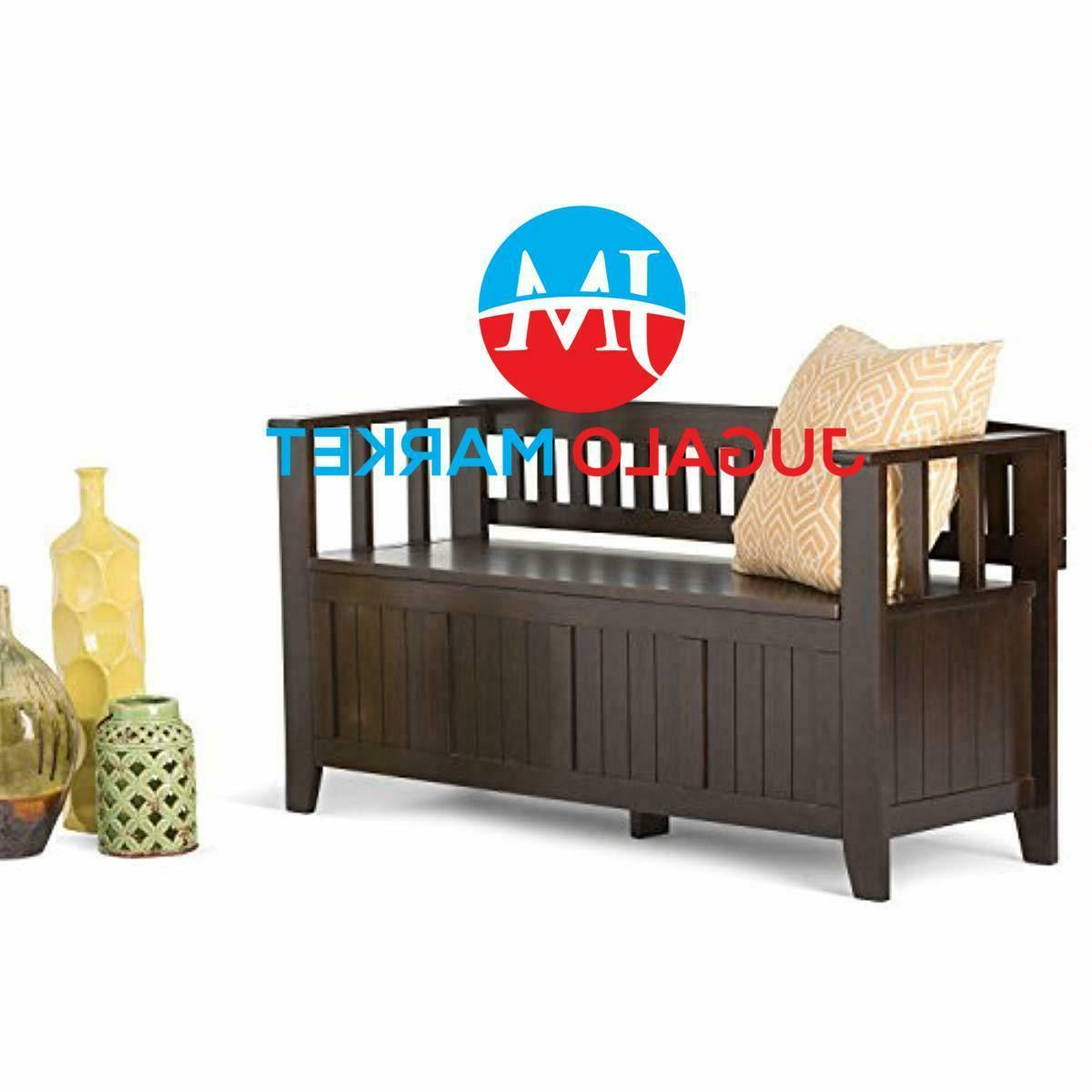 Simpli Home AX2370 Solid Bench