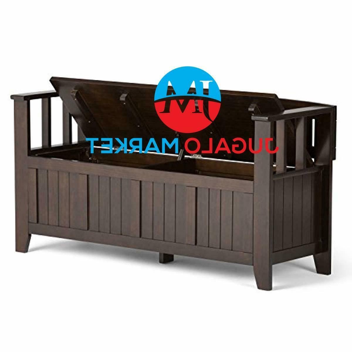 Simpli Home Solid Wood 48 inch wide Bench