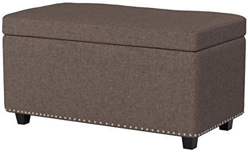 Simpli Home AXCOT-256-BRL Hannah Storage Fawn Fabric