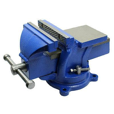 "5""  Bench Vise with Anvil with Swivel Locking Base - Heavy D"