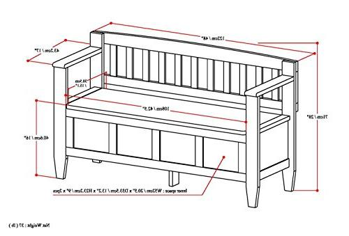 Simpli Storage Bench, Saddle Brown