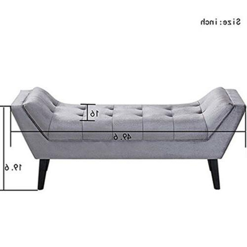 Button Bed with Arm Vanity Ottoman Bedroom Entryway