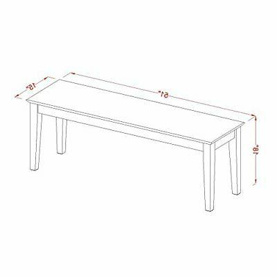 East West Furniture Bench Wood Seat, Cappuccino