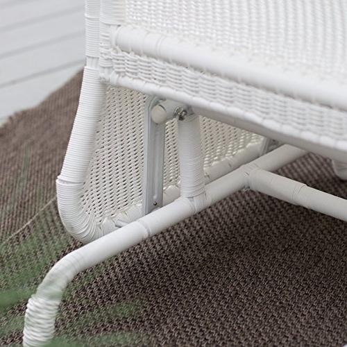 Coral Resin Outdoor Glider Chair