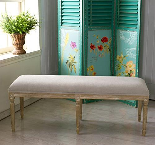 Baxton Studio Linen French Style Oak