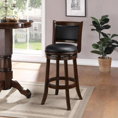 """Cushioned Bar Stool Game Dining Bistro Seat Swivel 29"""""""