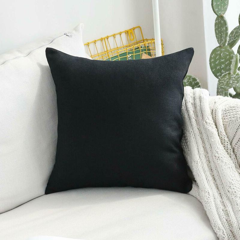 HOME BRILLIANT Decorative Lined Linen Euro Sham Pillow Cover