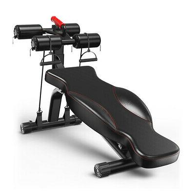 deluxe foldable weight bench adjustable flat incline