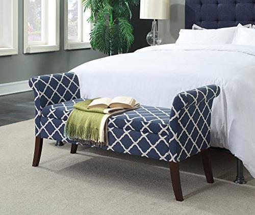 Convenience Concepts Designs4Comfort Garbo Storage Blue Fabric
