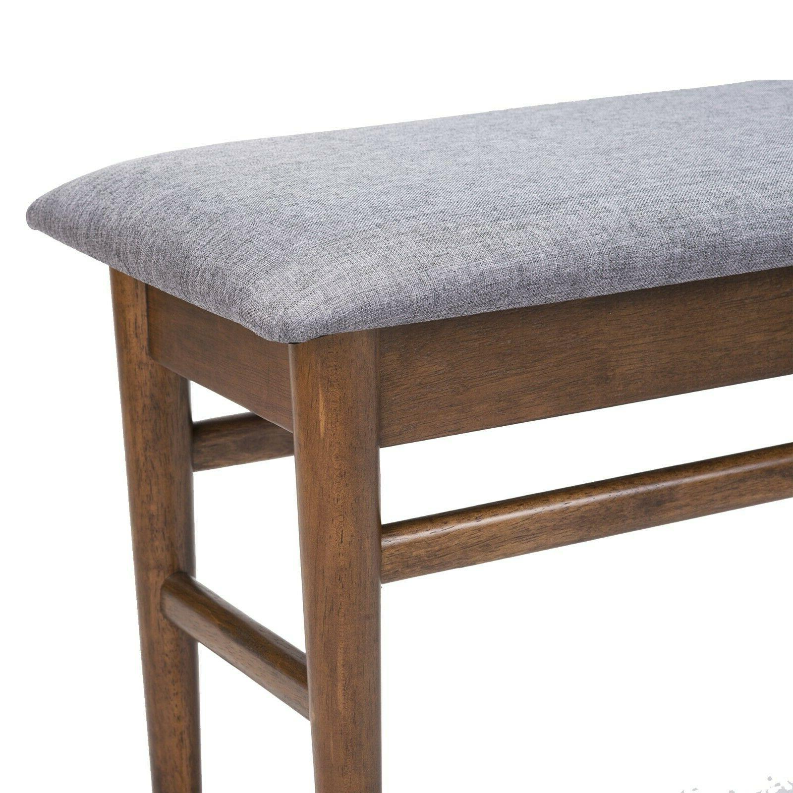 Dining Set of 6: Chairs Extendable Table Bench