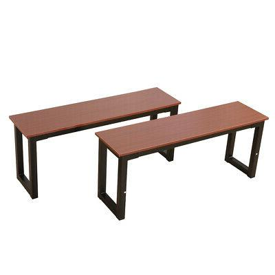 2pcs dining bench iron frame benches kitchen