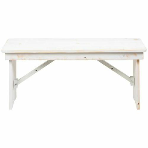 "DuraHercules Series 12"" Antique Solid Bench"