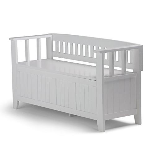 entryway bench white finish