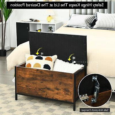 Costway Flip Top Ottoman Bed End Stool w/Padded