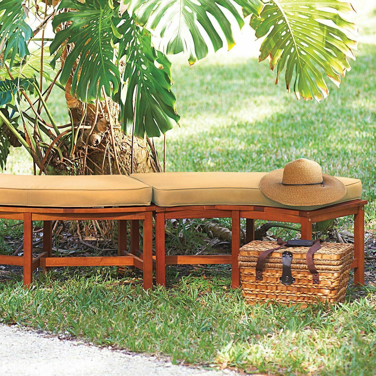 Eucalyptus Wood Pit Curved Outdoor Garden