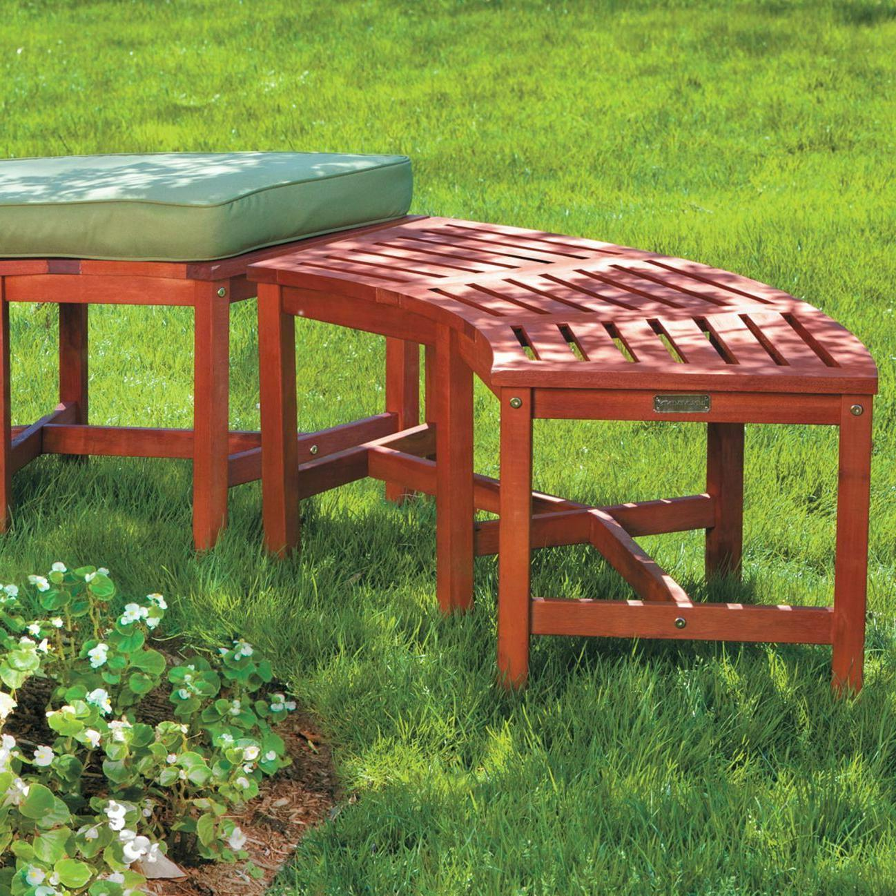 Eucalyptus Solid Pit Curved Outdoor Patio