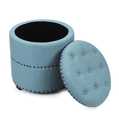 Adeco Euro Fabric Bench Blue