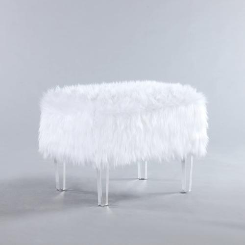 Iconic Modern Contemporary Faux Leg White
