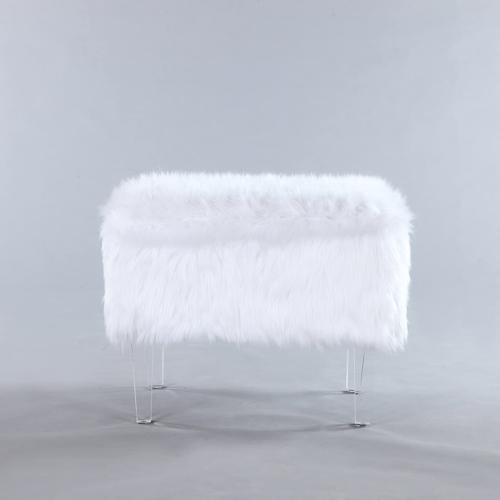 Iconic Home Fiorino Leg Bench, White