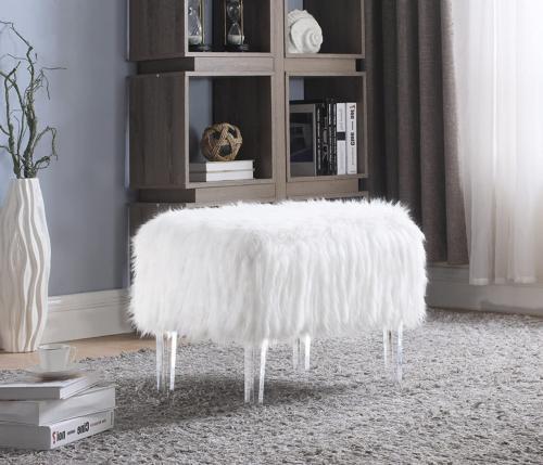 fiorino modern contemporary faux fur acrylic leg