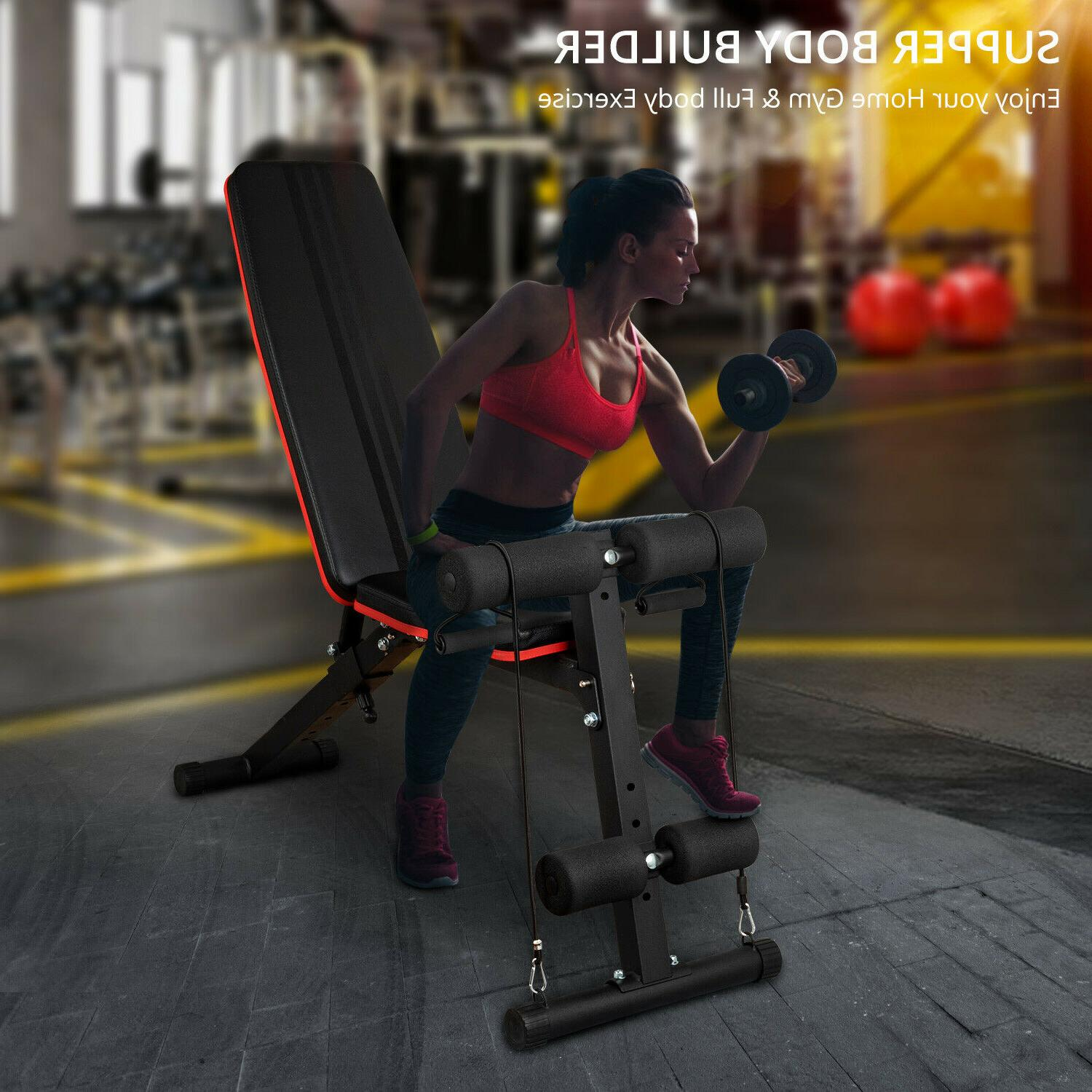 Foldable Bench Weight Training Gym Adjustable Workout