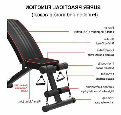 Foldable Bench Incline Training