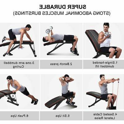 Foldable Weight Adjustable Incline Decline Fitness