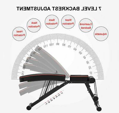 Foldable Bench Adjustable Incline Decline