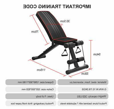 Foldable Incline Decline Training Bench