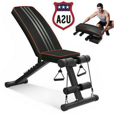 foldable weight bench adjustable incline decline workout