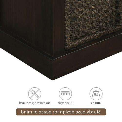 Espresso Storage Classic Fabric Cushion