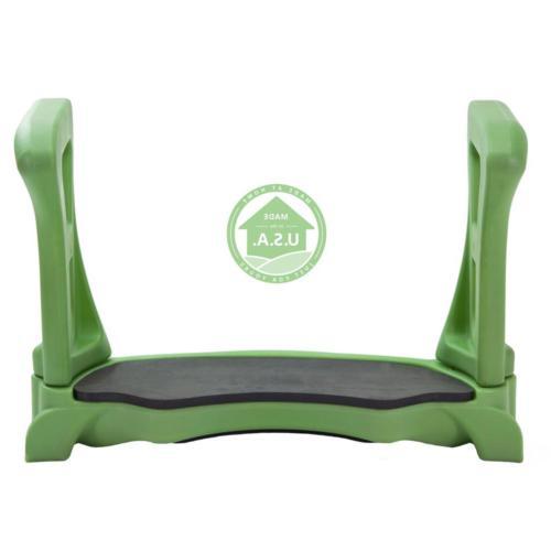 Green Contoured Bench