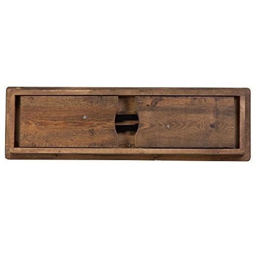 Flash Furniture HERCULES 40'' x Rustic Solid Pine Folding Farm