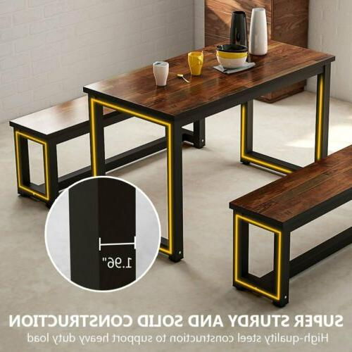 Home Dining Table with Two Dining Metal