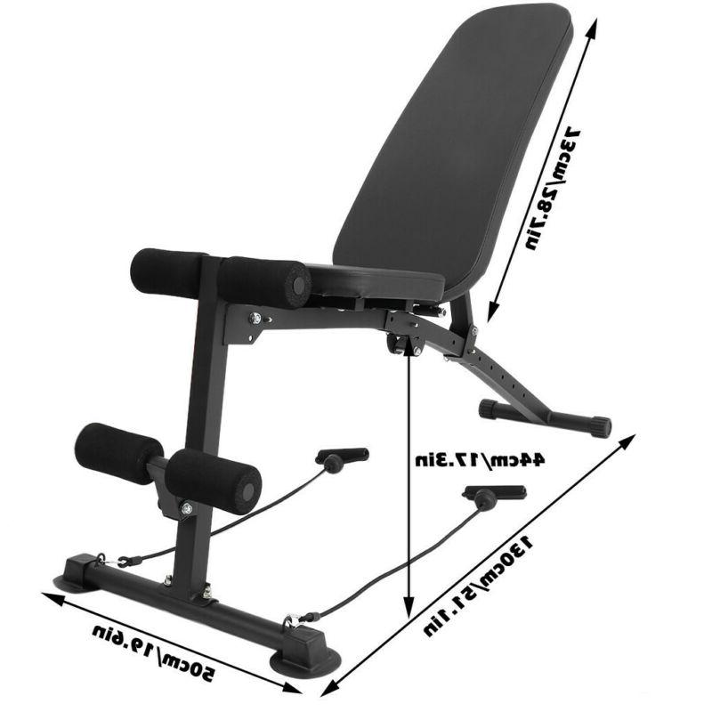 Home Gym Adjustable Weight Sit Incline Abs Fitness