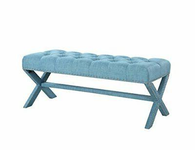 Iconic Dalit Neo Tufted Linen Bench
