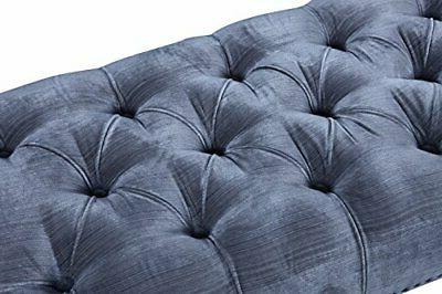 Iconic Button Tufted Acrylic Ottoman Bench