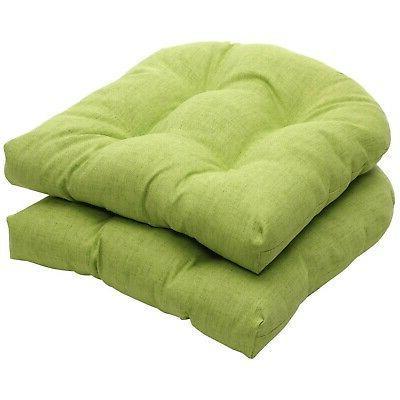 indoor outdoor green textured solid wicker seat
