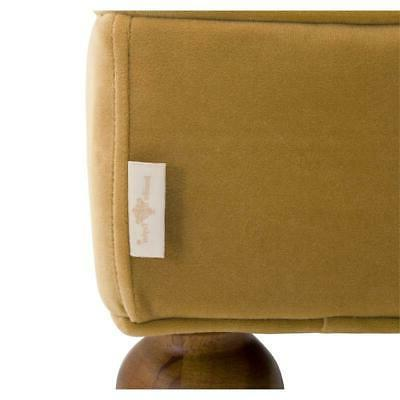 Lewis Bolster Entryway Bench Gold