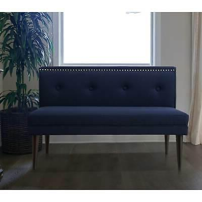 madison nailhead tufted accent settee bench by